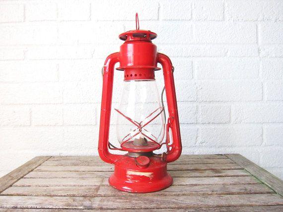 Vintage Dietz Junior Red Lantern No. 20 - Gas Lamp ...