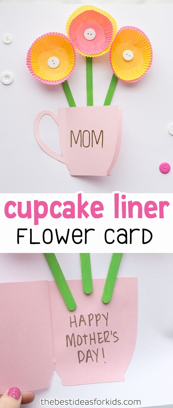 Handmade mothers day card pinterest cupcake liners cards diy
