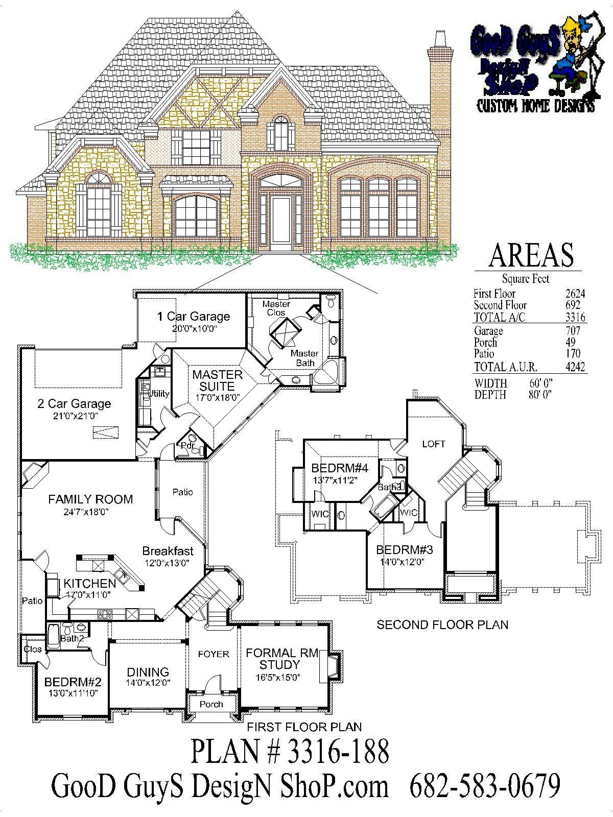 Plan 3316sqft 188 Bedroom Floor Plans House Plans Luxury House Plans