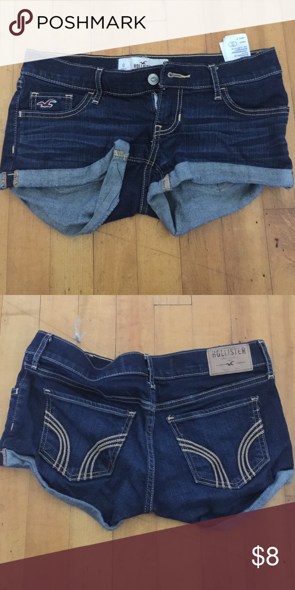 Hollister blue jean shorts Dark blue jean denim shorts from Hollister Hollister Shorts Jean Shorts