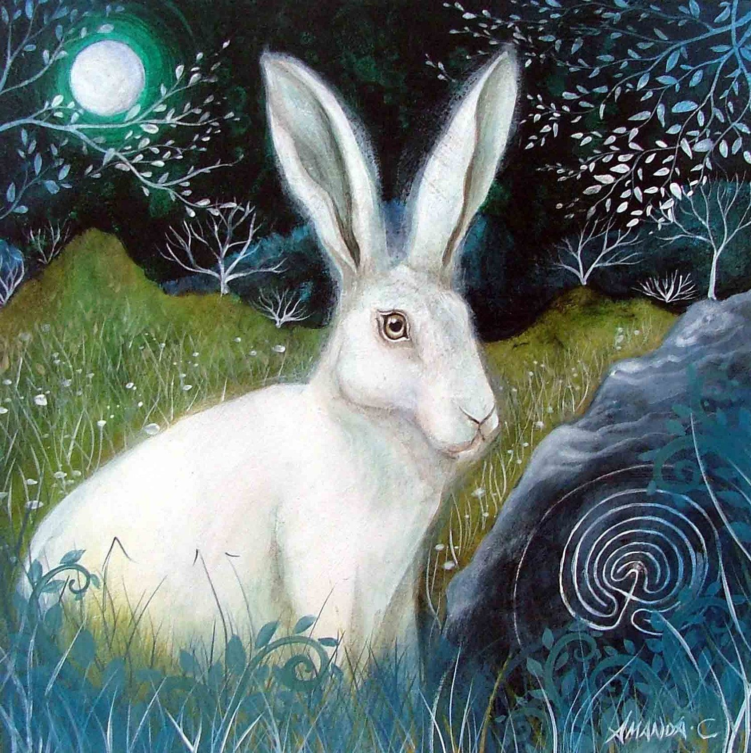 'Trackways'' from an original painting by Amanda Clark