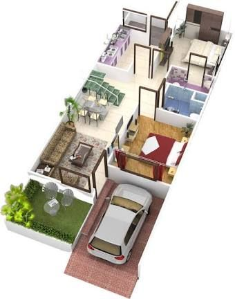 image result for house plan 20 x 50 sq ft  2bhk house