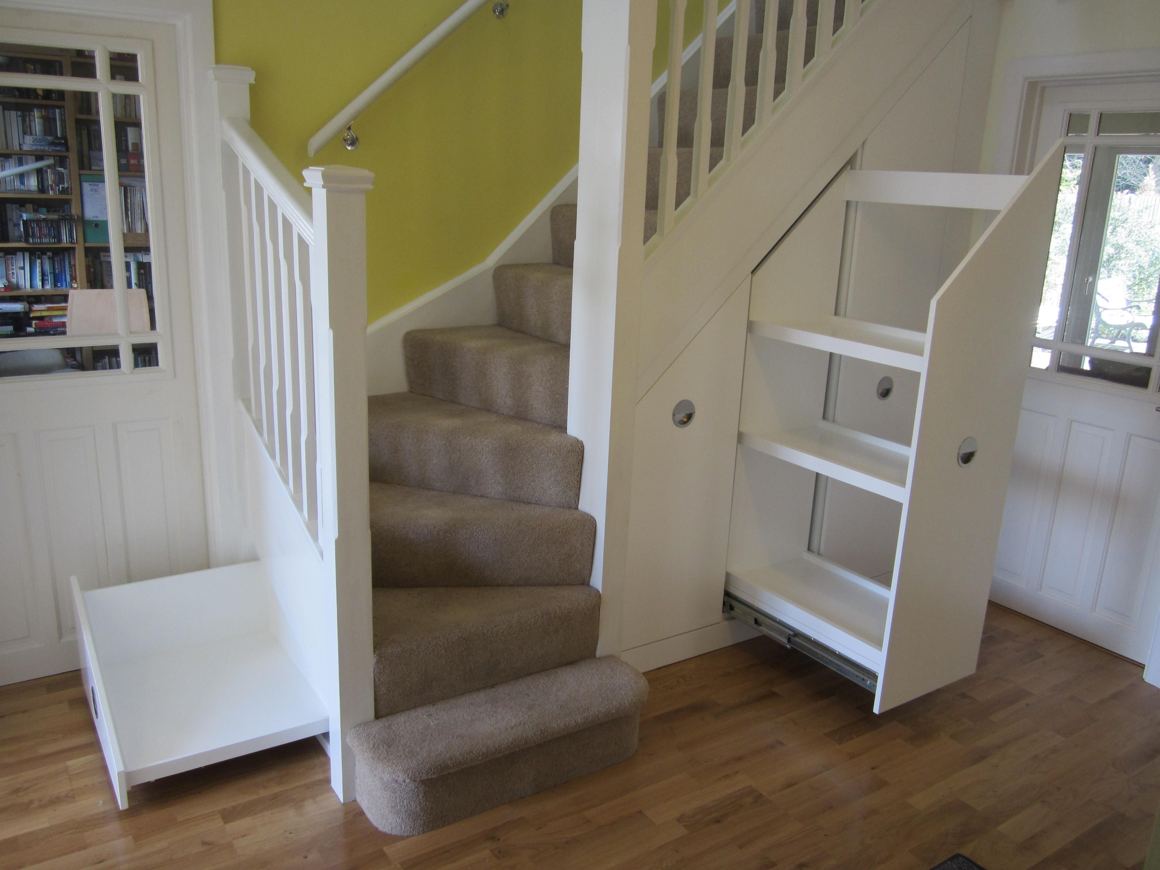 Lighting Basement Washroom Stairs: Best Under Stairs Closet Storage Ideas Andrea Outloud Also