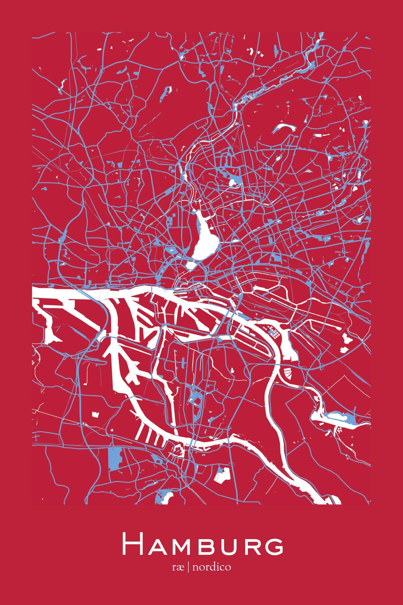 Hamburg Germany Map Print Mit Bildern Hamburg Hafencity Hamburg