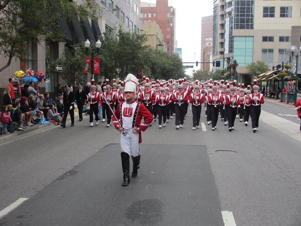 UW Marching Band in Orlando Capital One Bowl 2014 (With