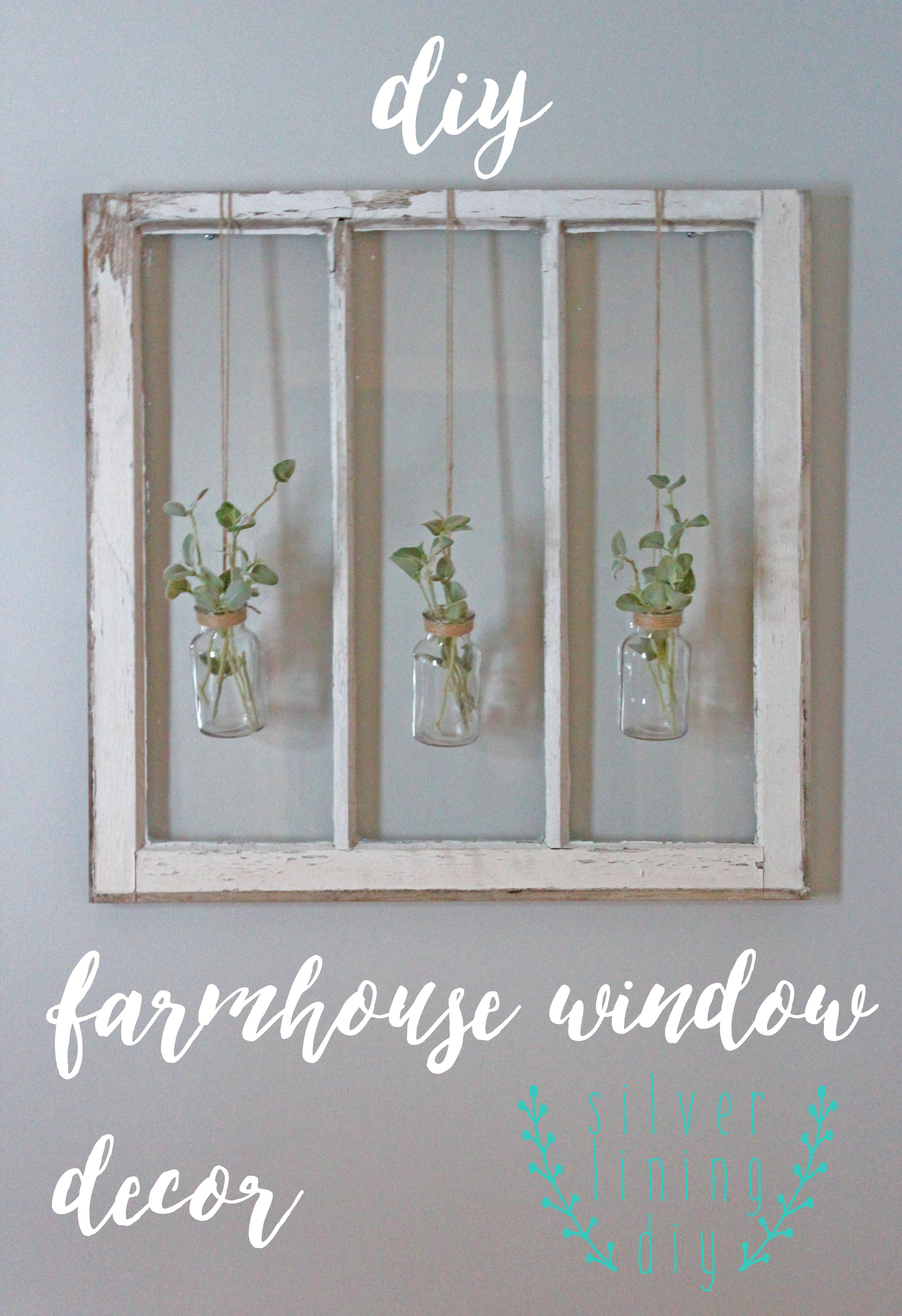 Old Window Frame Decor Wall Art Old Window Frame Chicken Wire Old Bottles And Greenery