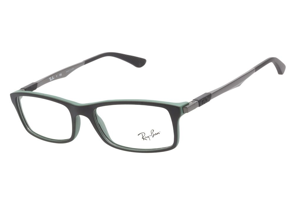 2adba6d2c9 Ray-Ban RB7017 5197 Black Green eyeglasses are adventurous and  ultra-lightweight. This