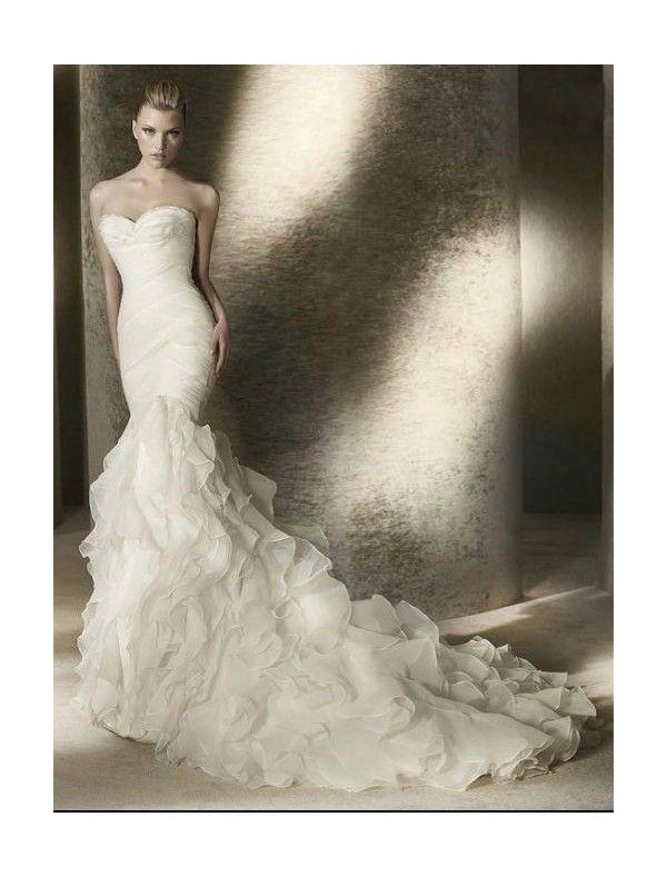 Mermaid Organza Wedding Dress