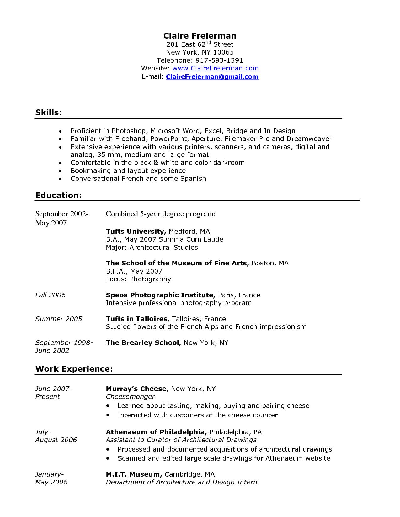 Resume Examples Barista Resume Examples Job Resume Examples Good Resume Examples Resume Examples