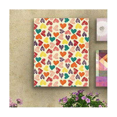 "East Urban Home 'Little Hearts' Print on Canvas Size: 20"" H x 16"" W x 2"" D"