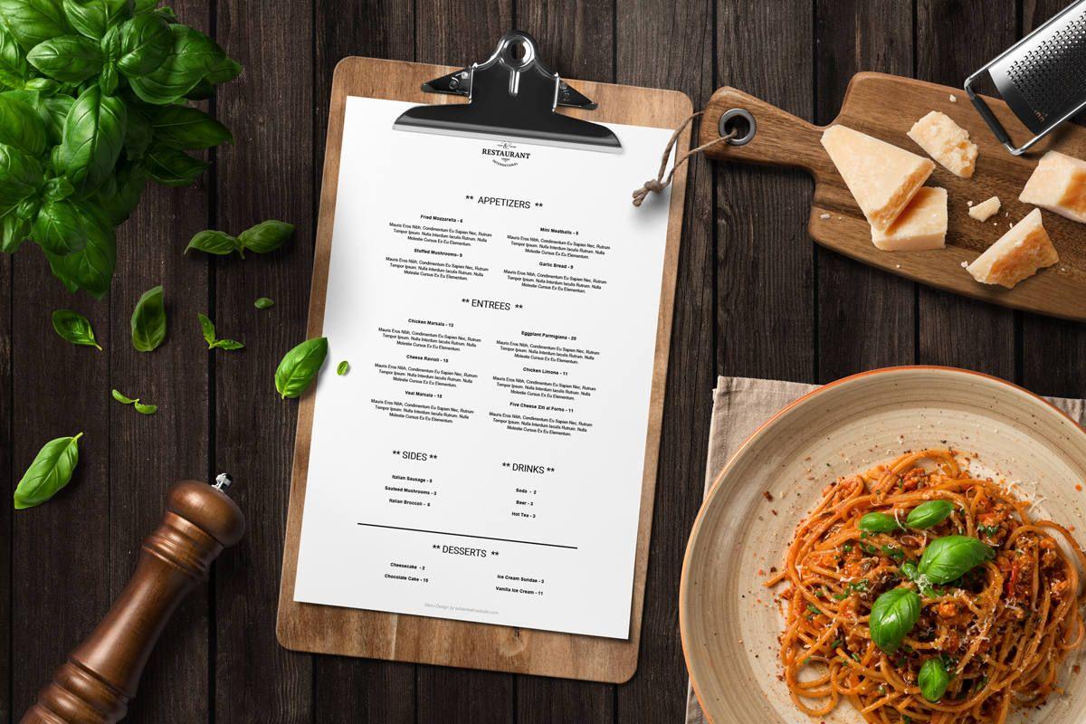 Menu Restaurant Menu Design Restaurant Menu Template Menu Etsy In 2021 Menu Mockup Menu Restaurant Menu Mockup Free