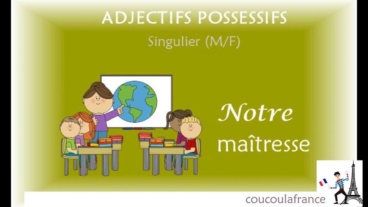 Los Adjetivos Posesivos En Francés Les Adjectifs Possessifs Youtube Adjetivo Posesivo Adjetivos Posesivo