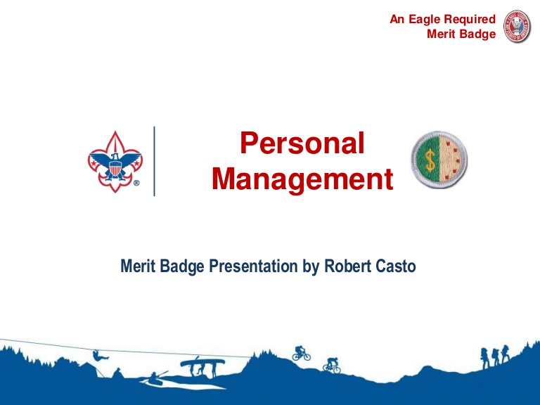 Slides for use in presenting requirements for the personal