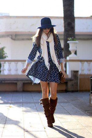 Zara boots - Sheinside dress - natura bag - Mango sunglasses