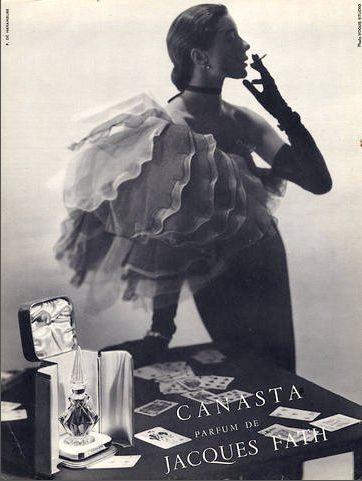 Bettina Graziani For Canasta Parfum De Jacques Fath 1950s