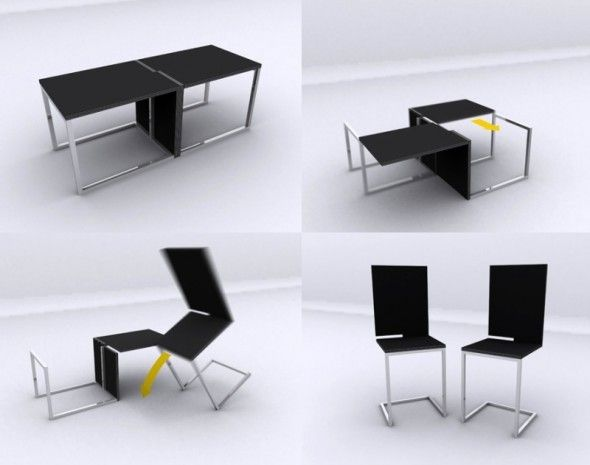 Square Set Dinning Chair And Table