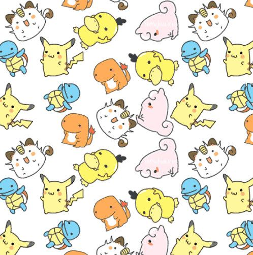 Cute Pokemon Pattern Wallpaper