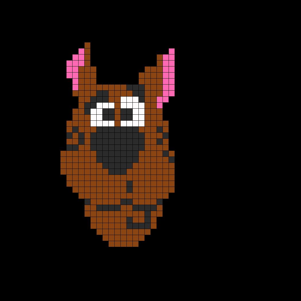 Scoobydoo Perler Bead Pattern / Bead Sprite | 拼拼豆豆 萌萌哒小动物 ...