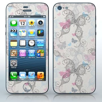 Delicate Creatures  Beautiful butterfly pattern  phone skin sticker for Cell Phones / Apple iPhone 5/5G | $7.95