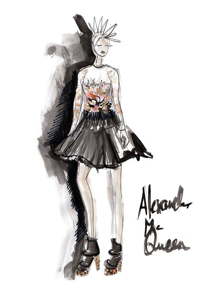 fashion alexander mcqueen illustration pinterest mode zeichnen mode illustrationen und. Black Bedroom Furniture Sets. Home Design Ideas