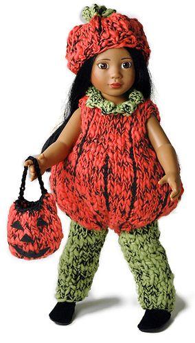 Pumpkin costume for American Girl doll. | For Avery | Pinterest ...