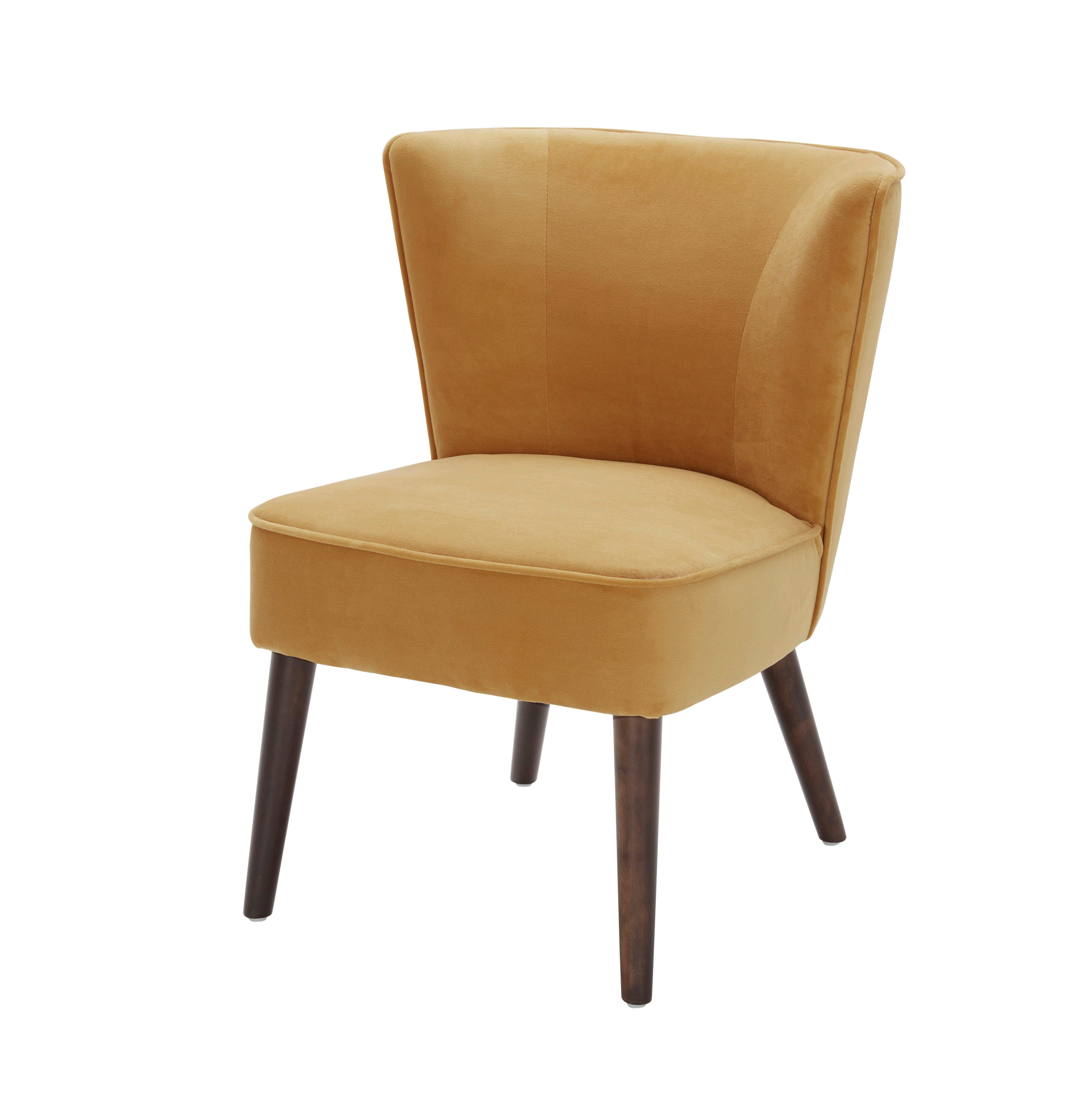 fauteuil harry tissu velours jaune | mix match
