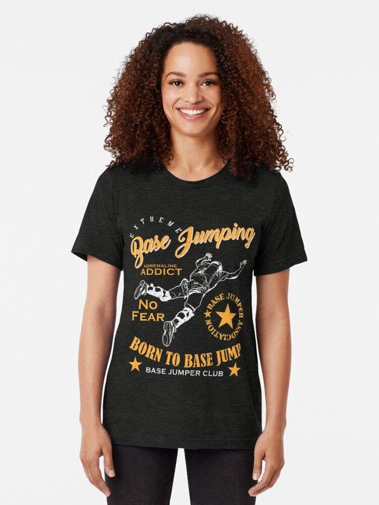 'Base jumper' Tri-blend T-Shirt by torlei565 #nikolausgeschenkmann