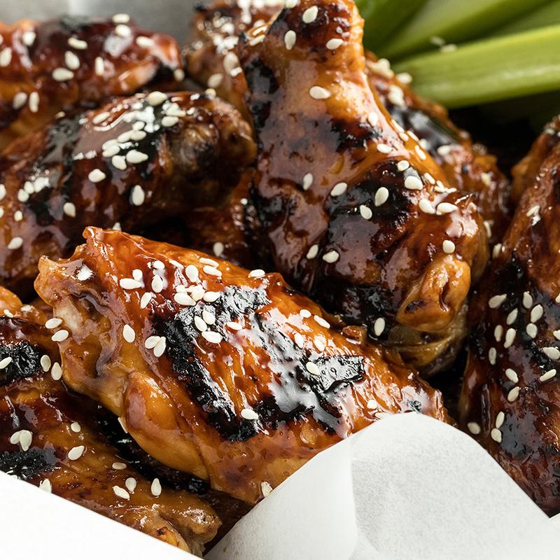 Teriyaki Glazed Chicken Wings Recipe Chicken Wings Glazed Chicken Chicken