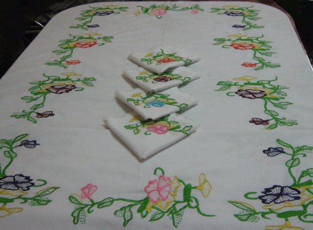 Patrones de flores para manteles imagui manteles pinterest mantel patrones y flores - Manteles bordados ...