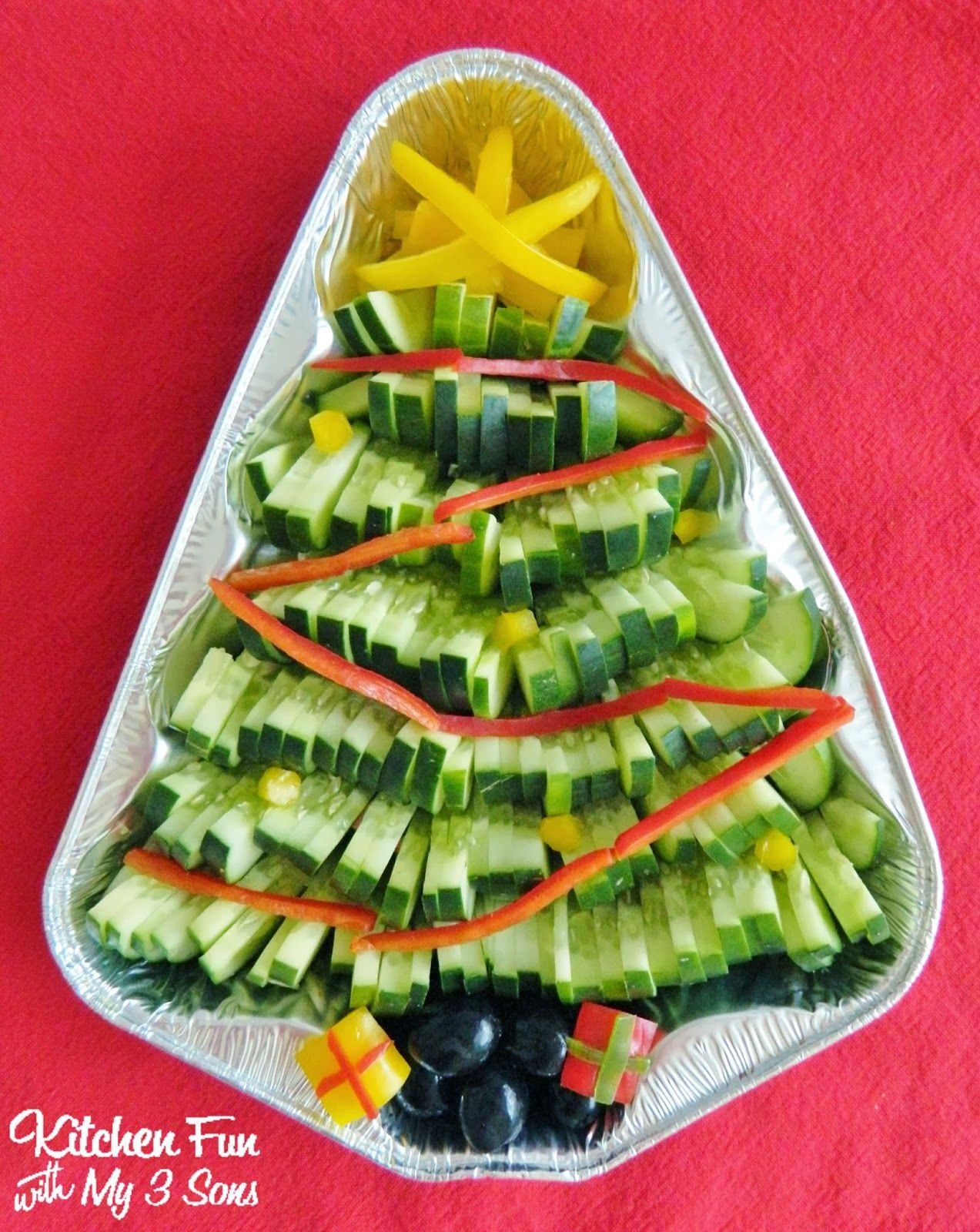 Veggie Christmas Treeperfect For Parties & Easy To Put Together