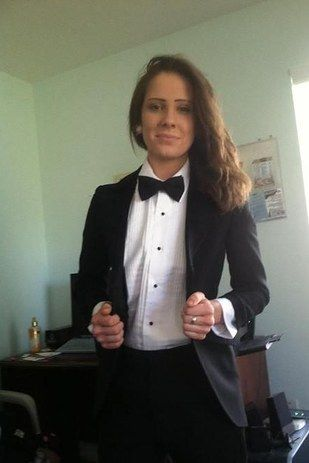 In a simple black-and-white number... | Suit shirts, Androgyny and ...