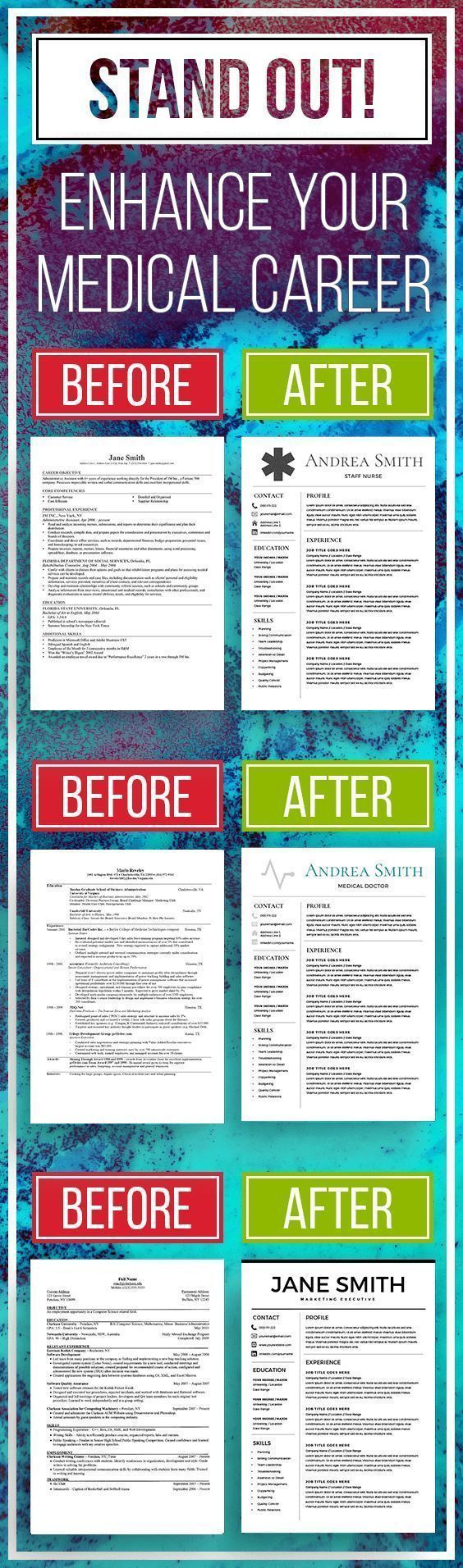 Nurse Resume Template  Medical Cv  Cv Template  Free Cover