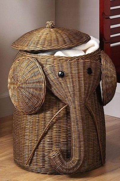Cute Laundry Basket Would Be Perfect For A Zoo Themed Nursery