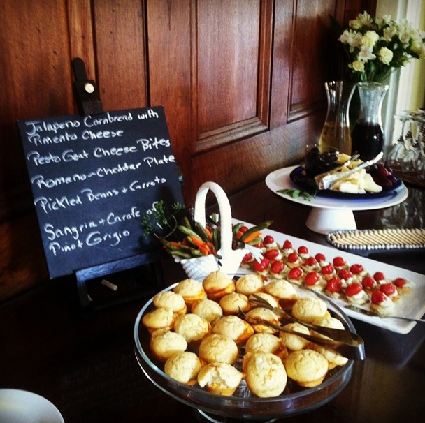Social Hour at The Forsyth Park Inn happens every day 5-6pm! All kinds of yummy treats served with wine and other refreshments. It's a great day at The #ForsythParkInn!