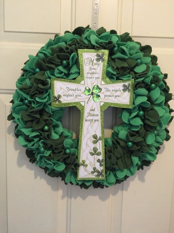 Saint Patrick's Day Wreath St. Paddy's Day by MOSTaDOORableWREATHS