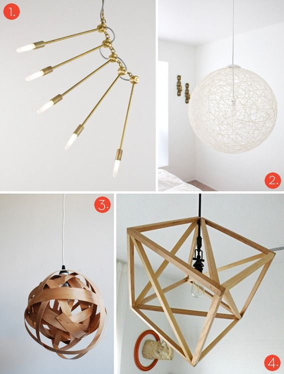 Roundup 20 Awesome DIY Modern Lighting Projects! diy Pinterest - como hacer lamparas de techo