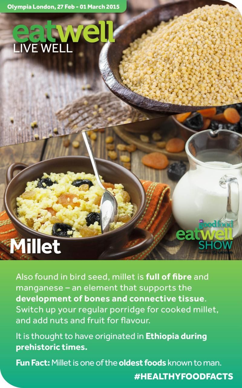 BBC Good Food Show Eat Well Show - Healthy Food Facts - Millet #HEALTHYFOODFACTS