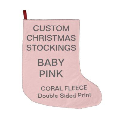 Custom Large BABY PINK Christmas Stocking | christmas stockings ...