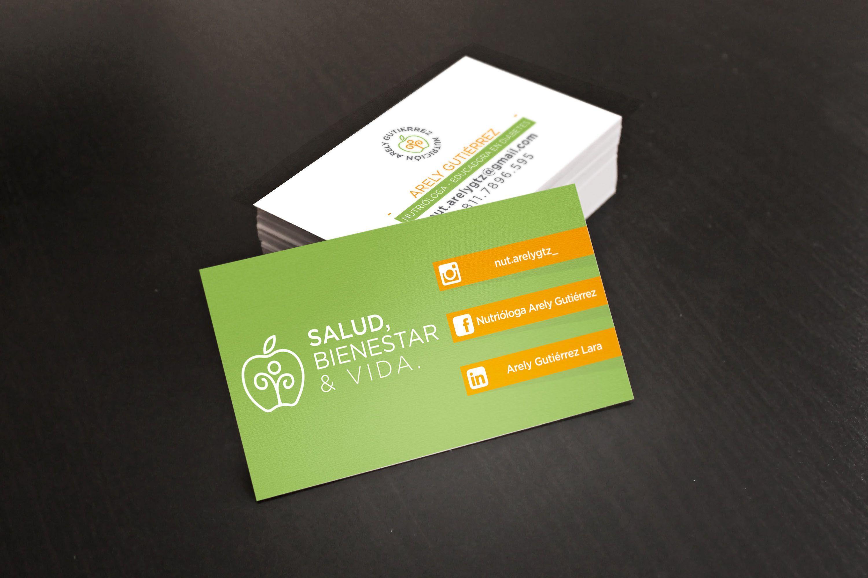 Diseño de tarjetas de presentación para SALUD, BIENESTAR & VIDA  By #Imperia