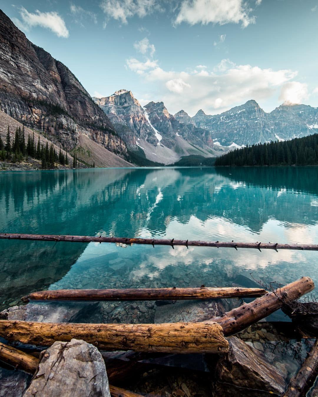 Moraine lake paysage paysage de reve nature paysage
