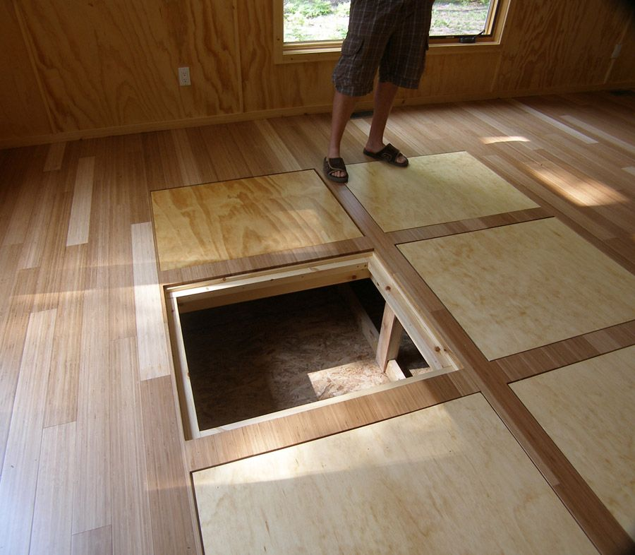 In floor storage for a tiny housegreat idea Compact Living