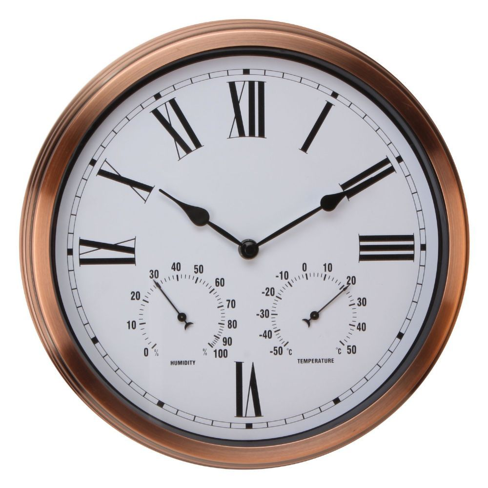 Large Copper Coloured Outdoor Wall Clock Wall Clock Clock Contemporary Clocks
