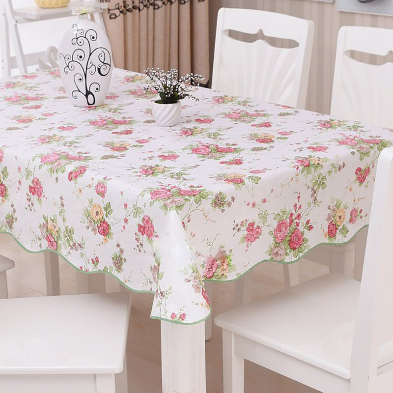 Perfect Waterproof Oilproof Wipe Clean PVC Vinyl Tablecloth Dining Kitchen Table  Cover Protector OILCLOTH FABRIC COVERING