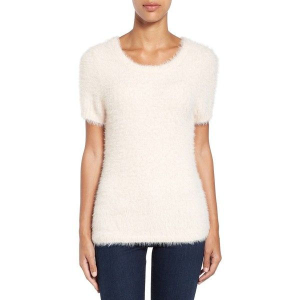 Women's Cece Eyelash Short Sleeve Pullover ($89) ❤ liked on ...