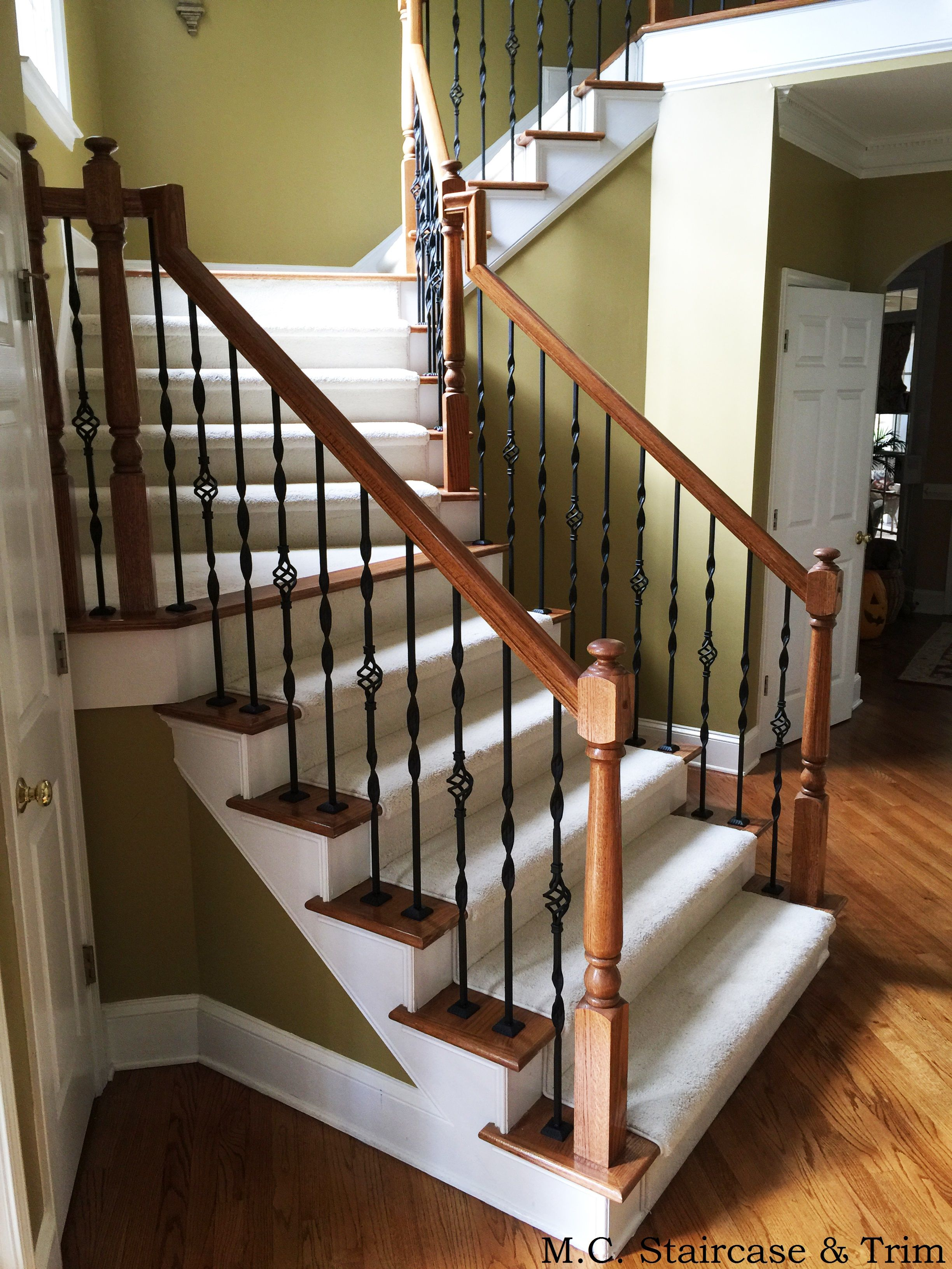 Best After The Iron Baluster Upgrade From M C Staircase Trim 400 x 300
