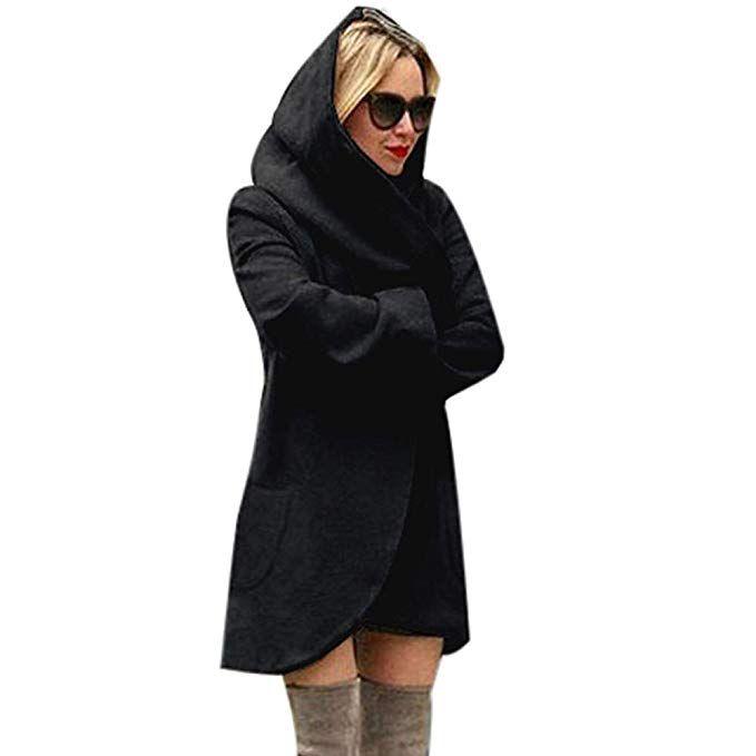 Trenchcoat Mit Lange Mantel Wolle Damen Ärmel Parka trQshdCx