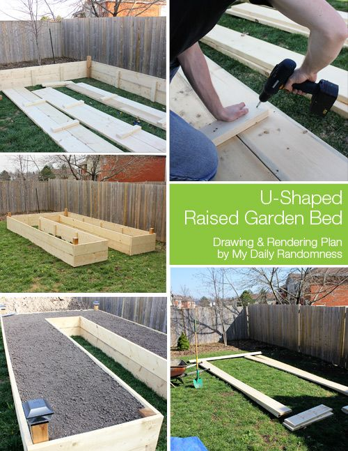 How To Build A U Shaped Raised Garden Bed // Drawing And Rendering