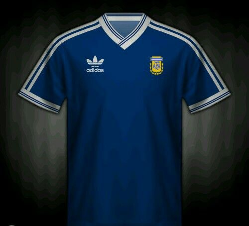 4c3780fcc Argentina away shirt for the 1990 World Cup Finals.
