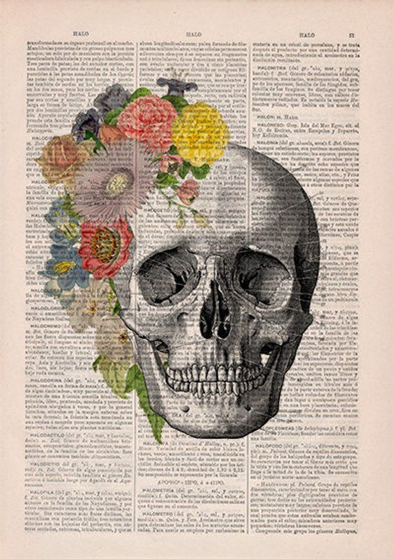 Photo of Springtime Skull Decorative Art, Flowers on Skull ,Nature In…