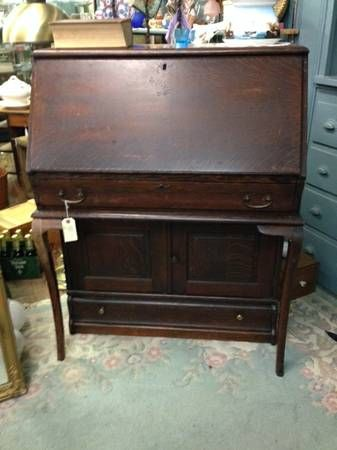 Globe Wernicke Desk With A Cupboard Section And Drawer Base